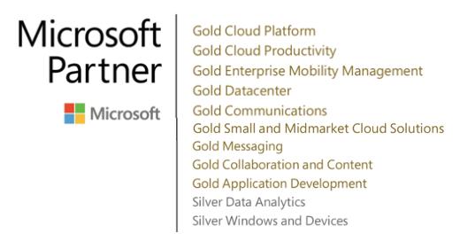 Logo certificado Microsoft 2018