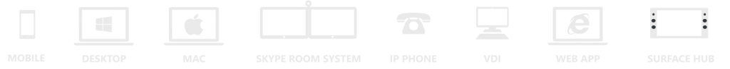 dispositivos que utiliza skype for business