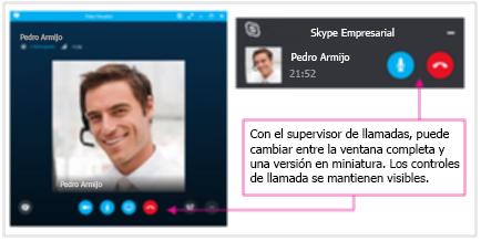 Cambiar una ventana completa a miniatura en Skype for Business
