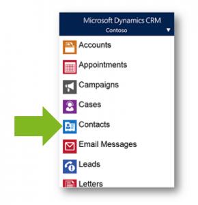 Vista móvil de CRM Dynamics