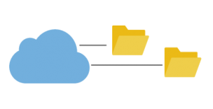 Icono de copias de seguridad en la nube