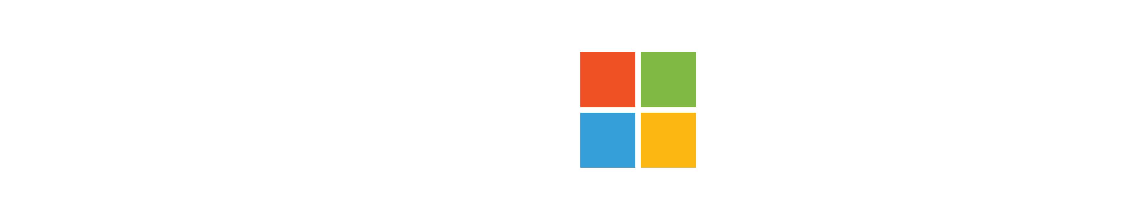 Logo blanco de Migesa y Microsoft
