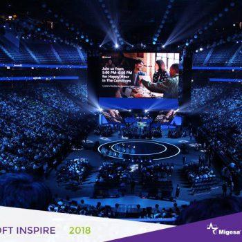 Fotografía del evento de Microsoft Inspire por Migesa
